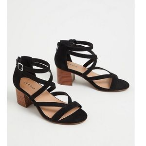 Torrid Faux Suede Strappy Sandals Size 9W NWT